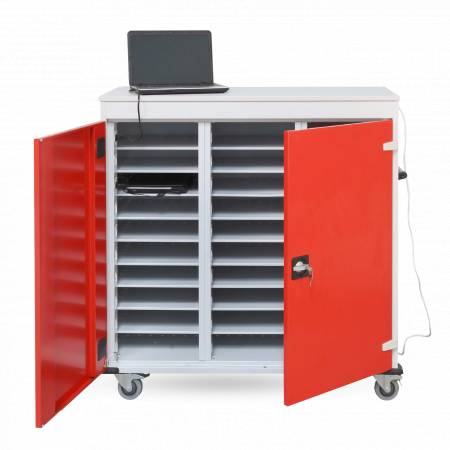 Axess Industries Chariot pour ordinateur portable 17 pouces   Nbre de compartiments 10   Alime...