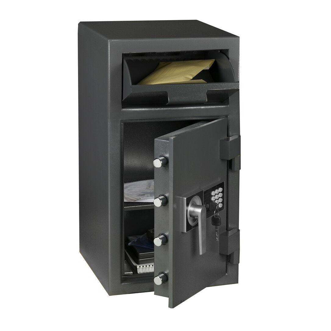 Axess Industries Coffre fort de dépôt de fonds à trappe - Hartmann   Volume 21 L   Nbre d'étag...