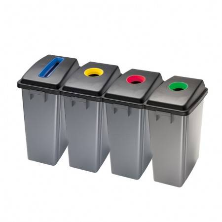 Axess Industries Poubelle de tri sélectif en plastique   Modèle Fente bleu