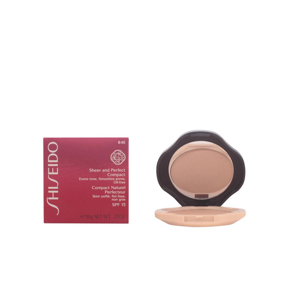 Shiseido SHEER & PERFECT compact foundation SPF15  #B40-fair beige