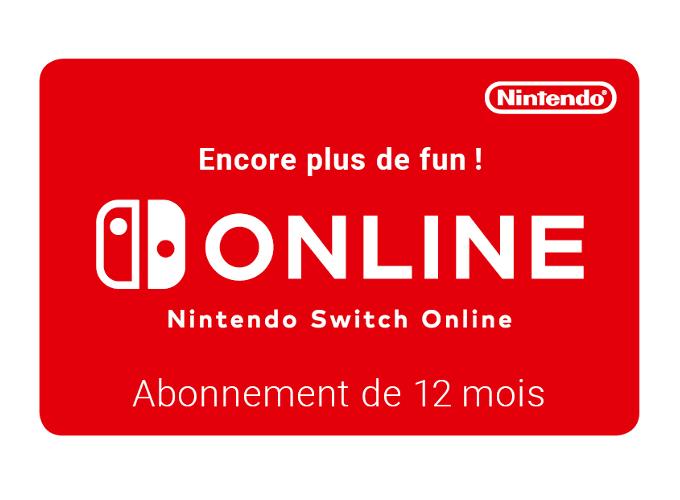 Nintendo eShop Nintendo Switch Online 12 Mois