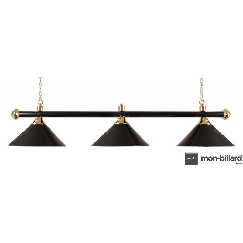 Buffalo Luminaire Billard 3 Coupoles noires, 150 cm