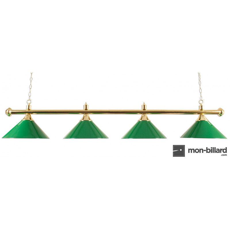 Buffalo Luminaire Lustre 4 coupoles vertes, 180 cm