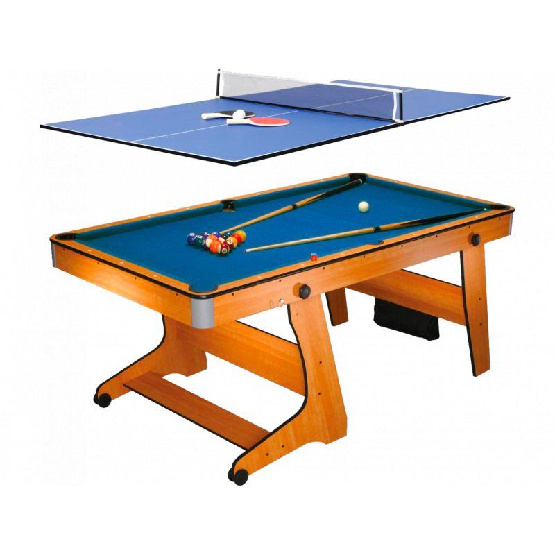 Billard BCE Billard Pliable BCE Clifton 6ft avec plateau Ping Pong