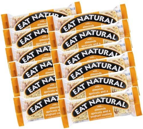 Eat Natural 12 Barres gourmandes abricot, amande et yaourt - Eat Natural - 600.0000 g