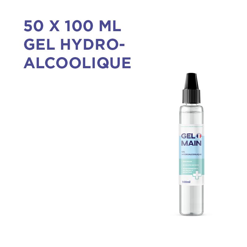 LOT DE 50 - GEL HYDRO-ALCOOLIQUE 100ML