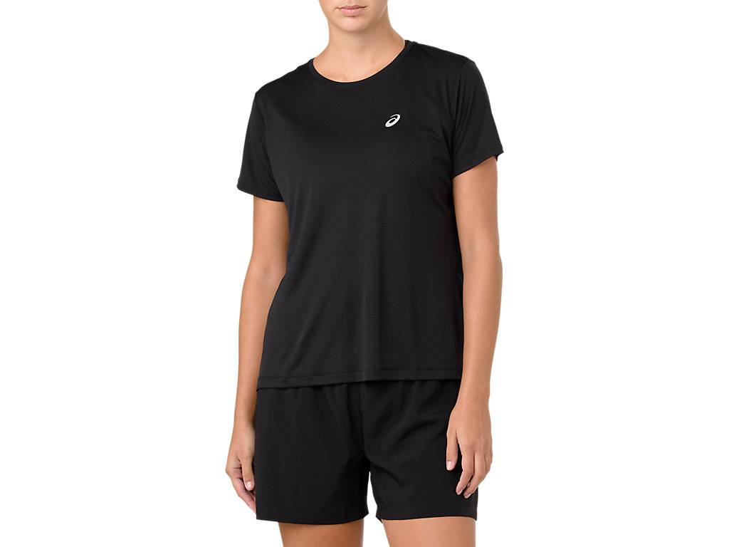 Asics Silver Ss Top Performance Black Femmes Taille L