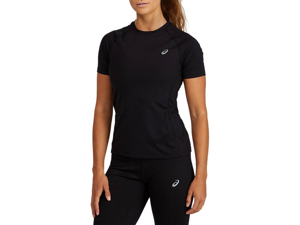 Asics Baselayer Ss Top Performance Black Femmes Taille L