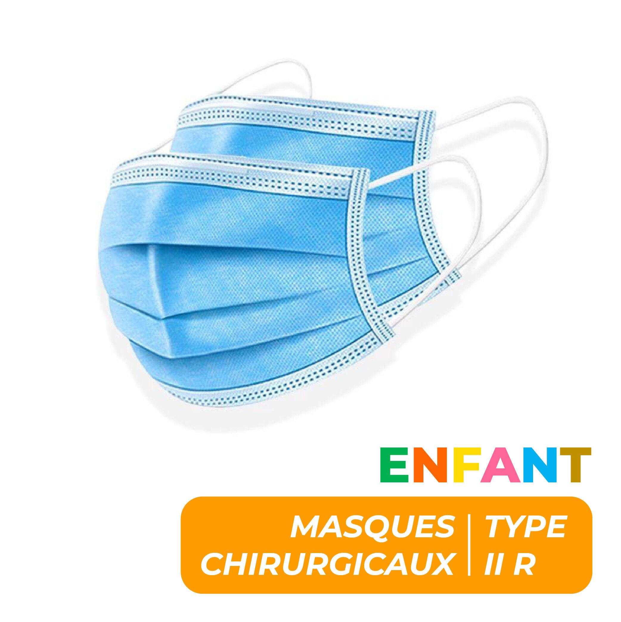 MASQUES CHIRURGICAUX TYPE II R ENFANTS - SACHET DE 10