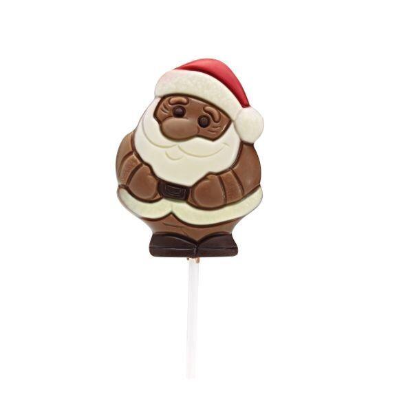 . Sucette chocolat Père Noel avec bonnet rouge 35g