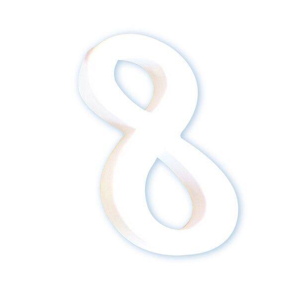 DECOPATCH Chiffre 8 en papier mâché blanc 12cm