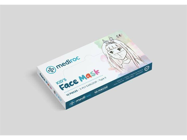 Changzhou Huankang Medical Device co MASQUE CHIRURGICAL KIDS ENFANTS - GARÇONS 6/12 CE MEDICAL 10 PCS