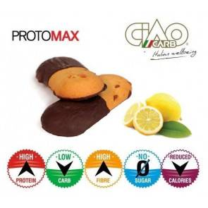 CiaoCarb Pack de 10 Biscuits CiaoCarb Protomax Lemonchoc Phase 1 Vanille-Citron et Chocolat