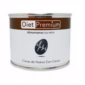 Diet Premium Burger, S.L.U. Claras de Huevo con Cacao en Lata Diet Premium 128 g