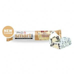 PhD Nutrition Ltd. Smart Bar Blondie (Brownie) de Chocolate Blanco PhD 64g