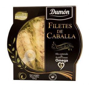 Dumon Filets de maquereau à l'Huile d'Olive Dumon 120 g