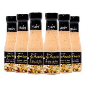 2bSlim Pack de 6 Sauces à l'Ail Piquantes 0% 2bSlim 250 ml