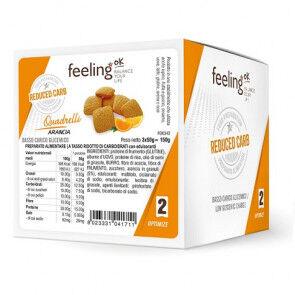 FeelingOk Mini Biscuits FeelingOk Quadrelli Optimize Orange 150 g