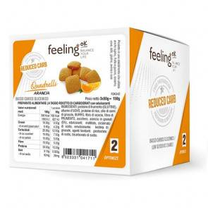 FeelingOk Mini Biscuits FeelingOk Quadrelli Optimize Orange 150 g