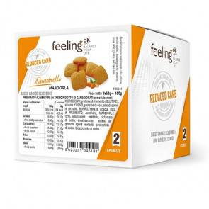 FeelingOk Mini Biscuits FeelingOk Quadrelli Optimize Amandes 150 g