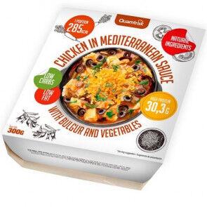 Quamtrax Nutrition Poulet à la sauce méditerranéenne avec boulgour et légumes Quamtrax 300 g