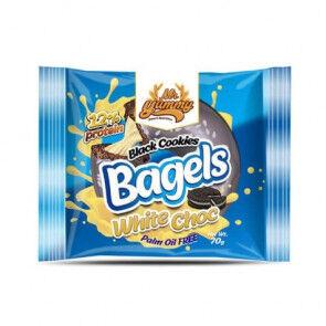 Mr. Yummy Bagel Black Cookies avec crème au chocolat blanc Mr. Yummy 70g