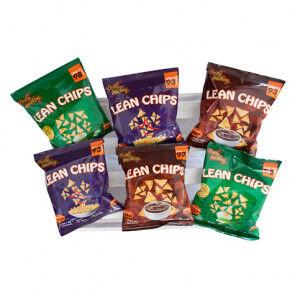 Purely Snacking Pack Variado de Lean Chips (Nachos Proteinados) 36 Paquetes