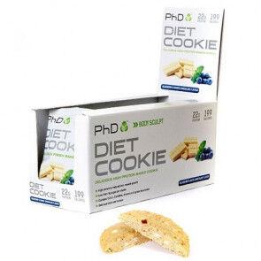 PhD Nutrition Ltd. Biscuit Protéiné goût Myrtille et Chocolat Blanc Diet Cookie PHD 50 g