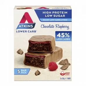 Atkins Advantage Bar goût Chocolat à la Framboise Atkins 5x30 g