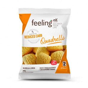 FeelingOk Mini Biscuits FeelingOk Quadrelli Start Vanille-Citron 50 g