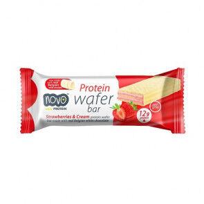 Novo Nutrition Protein Wafers aux fraises et crème 40g