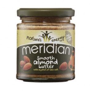 Meridian Foods Mantequilla de Almendra Suave con Sal Marina Meridian 170 g