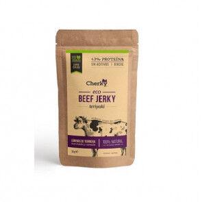 Cherky Foods Beef Jerky Viande salée Biologique au goût de Sauce Teriyaki Cherky 30g