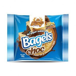 Mr. Yummy Bagel Espelta avec crème au chocolat Noir Mr. Yummy 70g