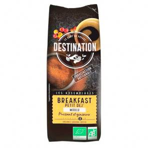 Destination Bio Café Moulu Bio pour le Petit Déjeuner 100% Arabica Destination 250g