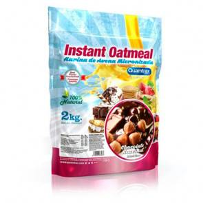 Quamtrax Nutrition Flocons d'avoine aromatisés Chocolat et noisettes Quamtrax 2 kg
