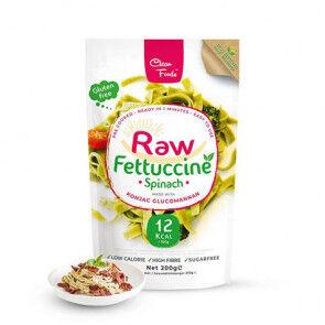 Clean Foods Raw Pasta Konjac Fettuccine Épinard Clean Foods 200 g