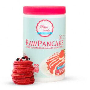Clean Foods Préparé pour crêpes crues à faible teneur en glucides Saveur Red Velvet Clean Foods 425 g
