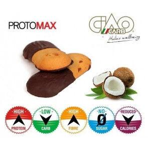CiaoCarb Pack de 10 Biscuits CiaoCarb Protomax Cocochoc Phase 1 Noix de Coco-Chocolat