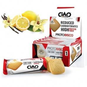 CiaoCarb Pack de 10 Biscuits CiaoCarb Protobisco Phase 1 Vanille Citron