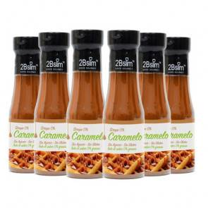 2bSlim Pack de 6 Sirops Caramel 0% 2bSlim 250 ml