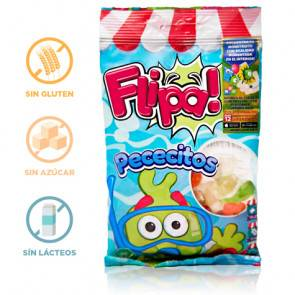 Flipa Bonbons sans Sucre Poissons Flipa 80 g