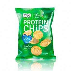 Novo Nutrition Protein Chips Cebolla y Crema Agria 30 g Novo Nutrition