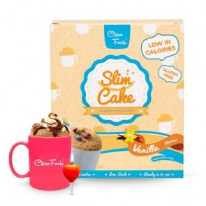 Clean Foods Mug Cake Low-Carb Slim Cake goût Vanille Clean Foods 300 g