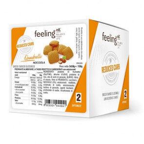 FeelingOk Mini Biscuits FeelingOk Quadrelli Optimize Noisettes 150 g