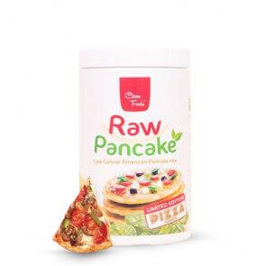 Clean Foods Préparation pour Pancakes Low-Carb Raw Pancake goût Pizza Clean Foods 425 g