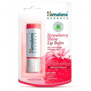Himalaya Herbals Baume à lèvres fraise brillant Himalaya 4,5g