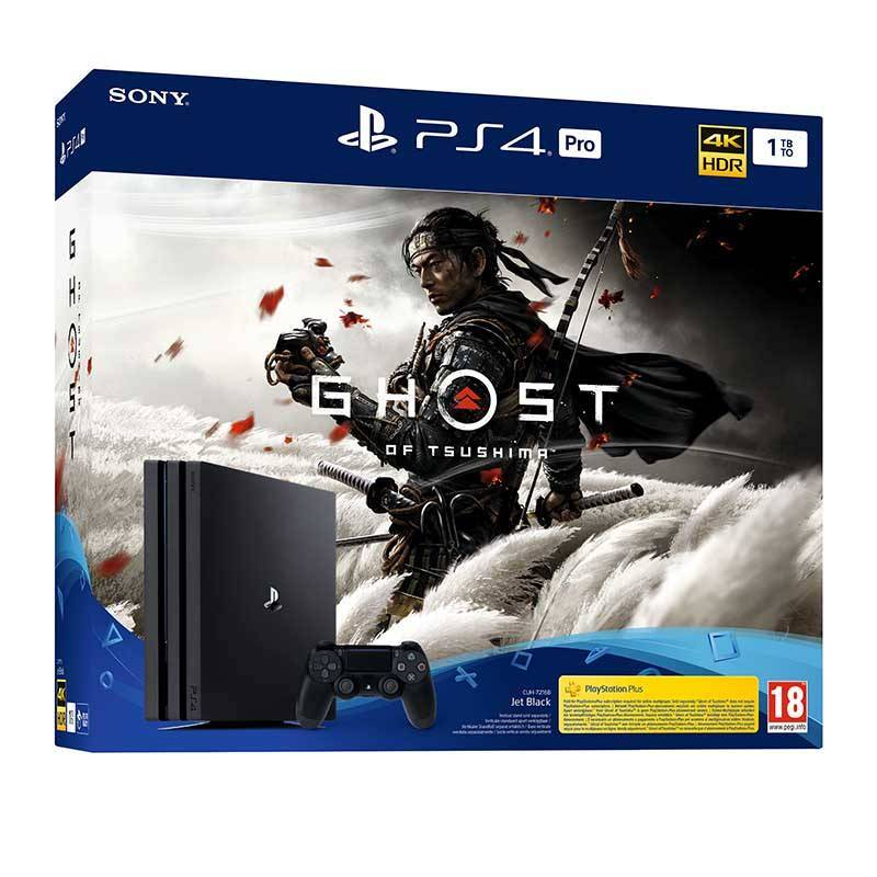 PS4 Console de Jeux PS4 PRO 1TO + GHOST OF TSUSHIMA