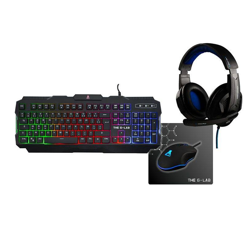 THE G-LAB Pack Gaming THE G-LAB 4en1 Rhodium-E
