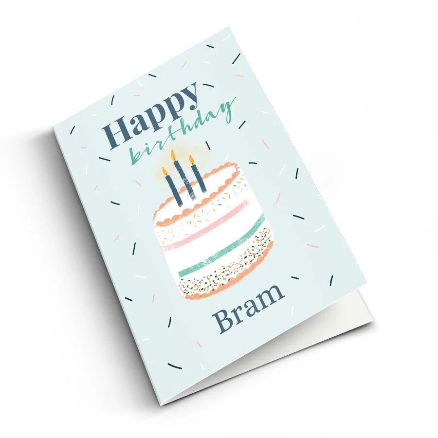 YourSurprise Carte anniversaire personnalisée - M - Portrait